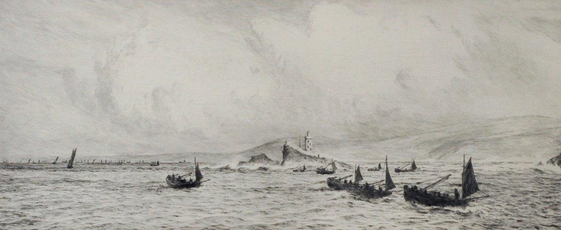 William Lionel Wyllie (1851-1931) British. 'Godrevy