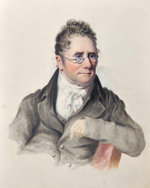 19th Century English School. Portrait of a Man wearing