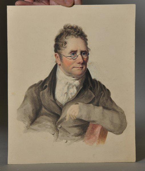 19th Century English School. Portrait of a Man wearing - 2