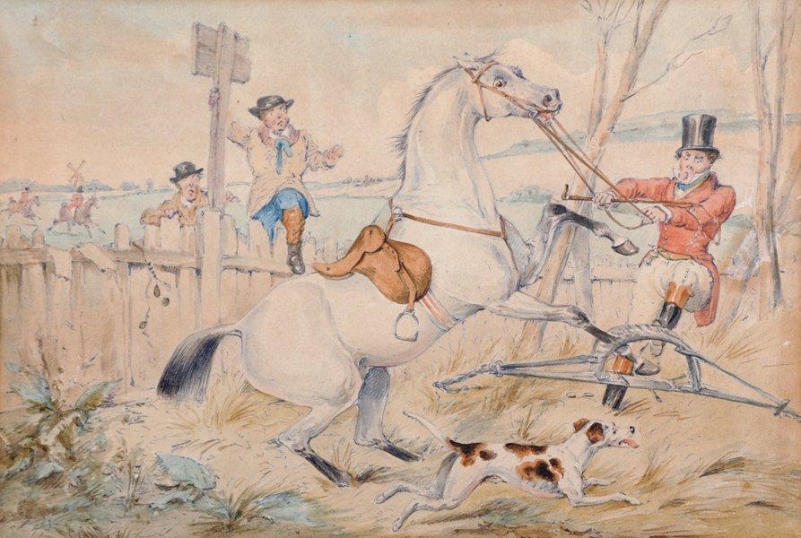 Attributed to Henry Alken (1810-1894) British. Hunting