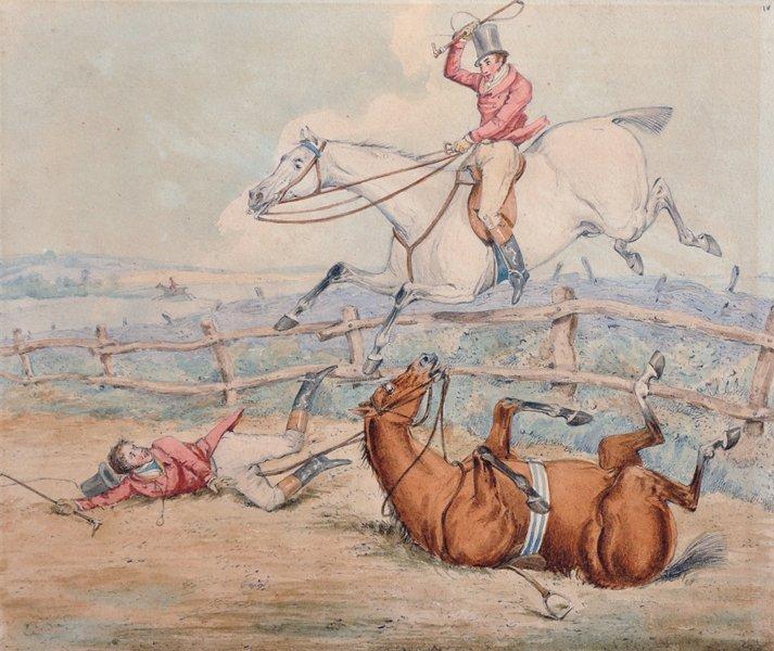 Attributed to Henry Alken (1810-1894) British. Hunting - 2
