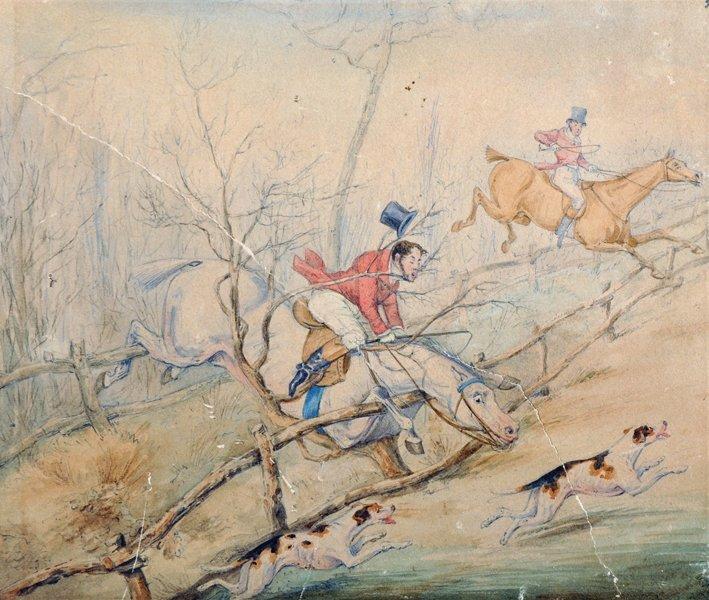 Attributed to Henry Alken (1810-1894) British. Hunting - 4