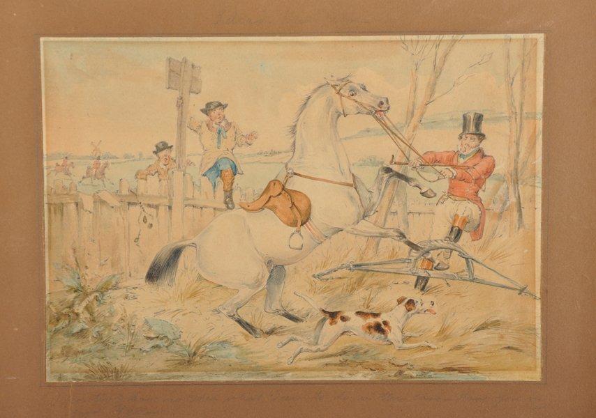 Attributed to Henry Alken (1810-1894) British. Hunting - 5