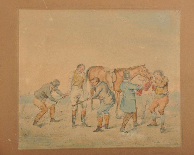 Attributed to Henry Alken (1810-1894) British. Hunting - 7