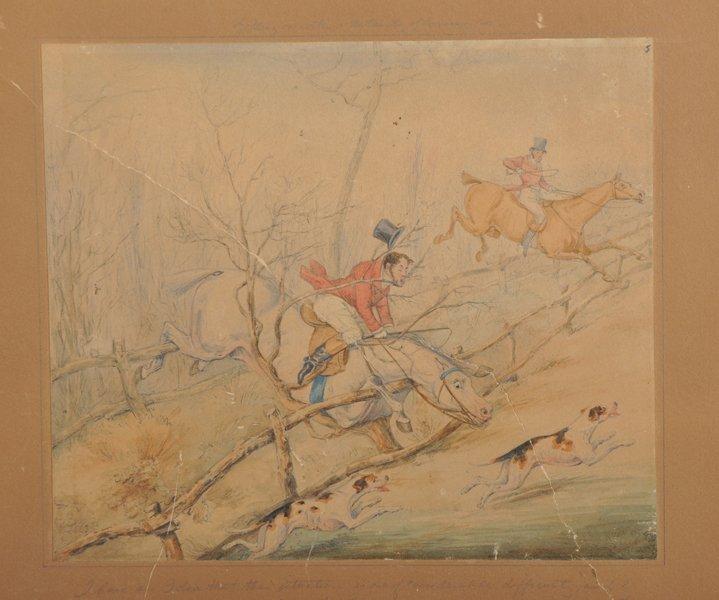 Attributed to Henry Alken (1810-1894) British. Hunting - 8