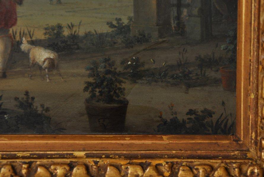 18th Century Dutch School. Elegant Figures on a - 10