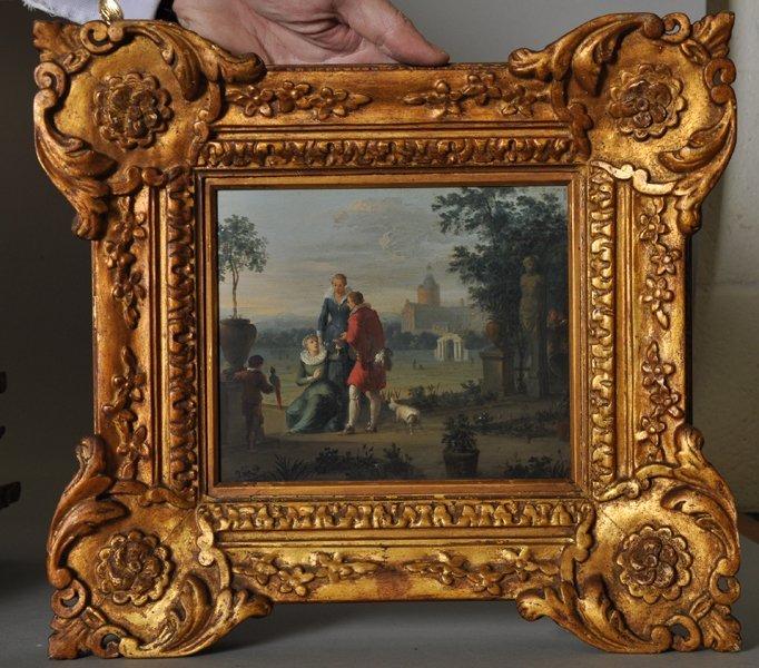 18th Century Dutch School. Elegant Figures on a - 6