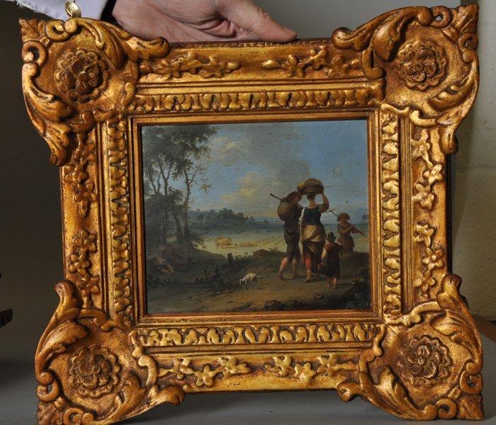 18th Century Dutch School. Elegant Figures on a - 7