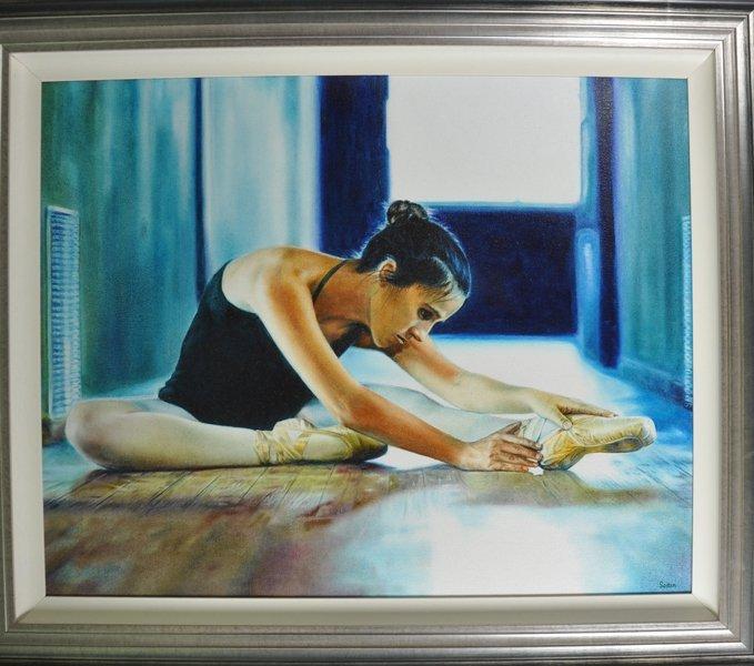 Alfredo Soria (1981-    ) Cuban. Study of a Ballet - 2