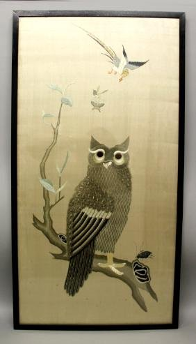 A GOOD QUALITY LARGE 19TH/20TH CENTURY FRAMED CHINESE