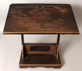 AN UNUSUAL FINE QUALITY JAPANESE MEIJI PERIOD LACQUERED