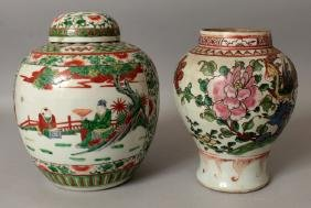 AN 18TH/19TH CENTURY CHINESE FAMILLE ROSE BALUSTER