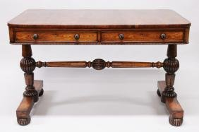 """A SUPERB REGENCY ROSEWOOD """"GILLOW"""" LIBRARY TABLE with"""