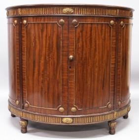 A GOOD ADAM DESIGN MAHOGANY DEMILUNE SIDEBOARD, with