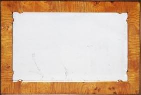 AN 18TH CENTURY WALNUT FRAMED MIRROR.  2ft 5ins high,