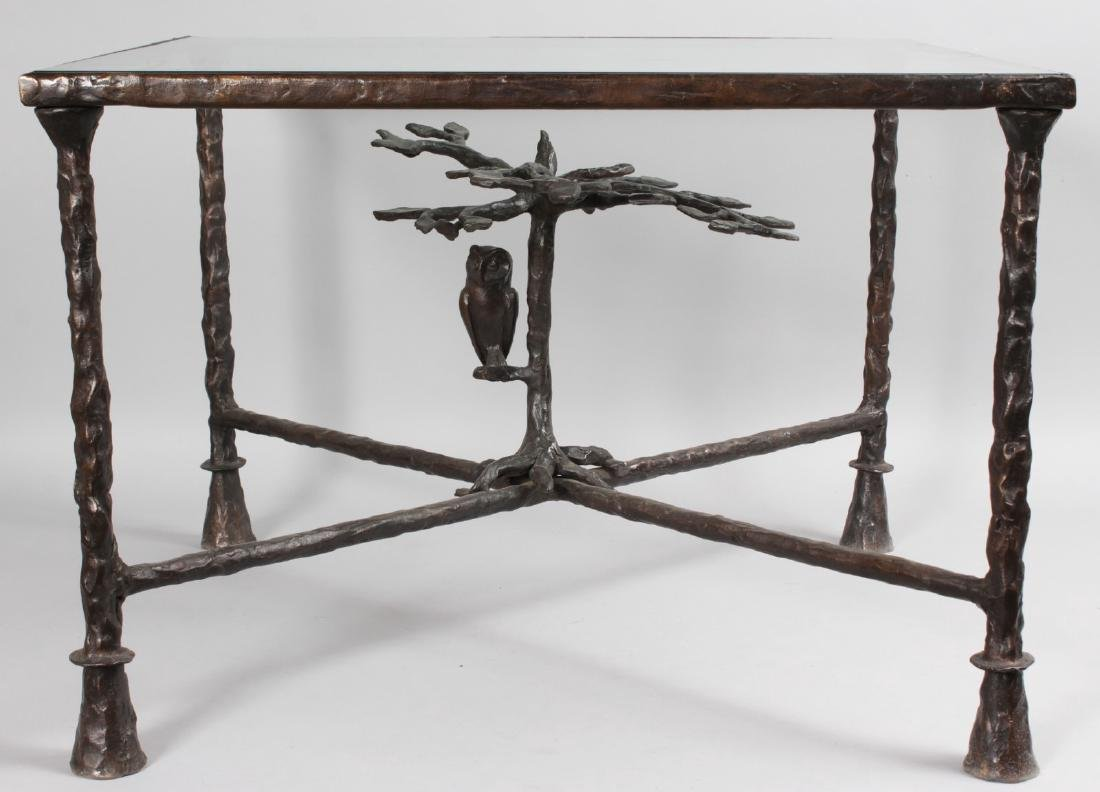DIEGO GIACOMETTI STYLE  A SUPERB BRONZE COFFEE TABLE