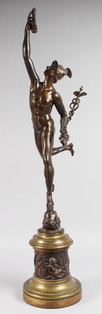 AFTER GIAMBOLOGNA  A SUPERB LARGE STANDING BRONZE OF