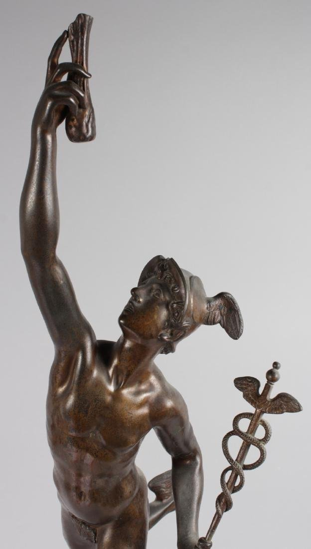AFTER GIAMBOLOGNA  A SUPERB LARGE STANDING BRONZE OF - 2