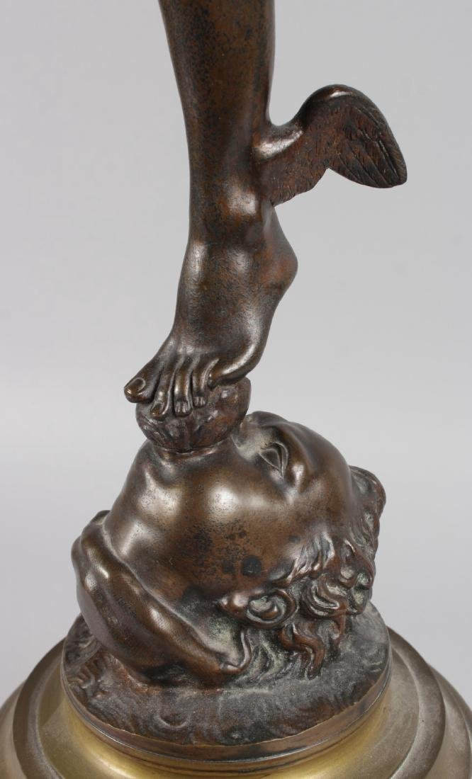 AFTER GIAMBOLOGNA  A SUPERB LARGE STANDING BRONZE OF - 3