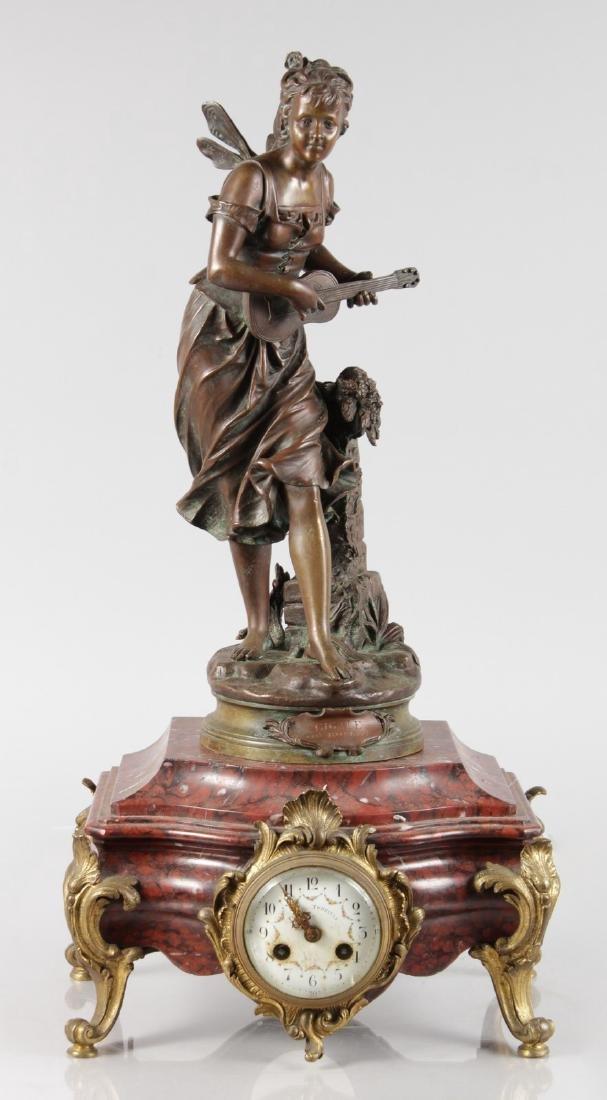 EUTROPE BOURET (1833-1906) FRENCH  A BRONZE FIGURE OF A