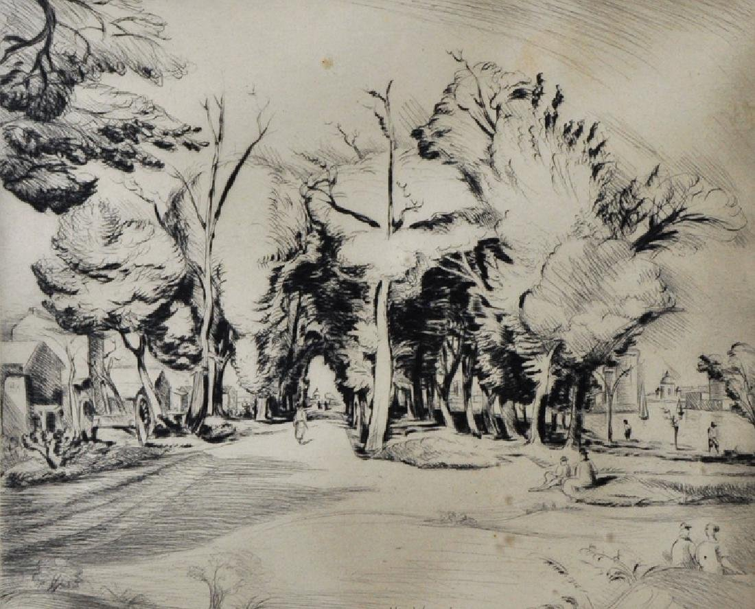 """Henry De Waroquier (1881-1970) French. """"Port de La"""