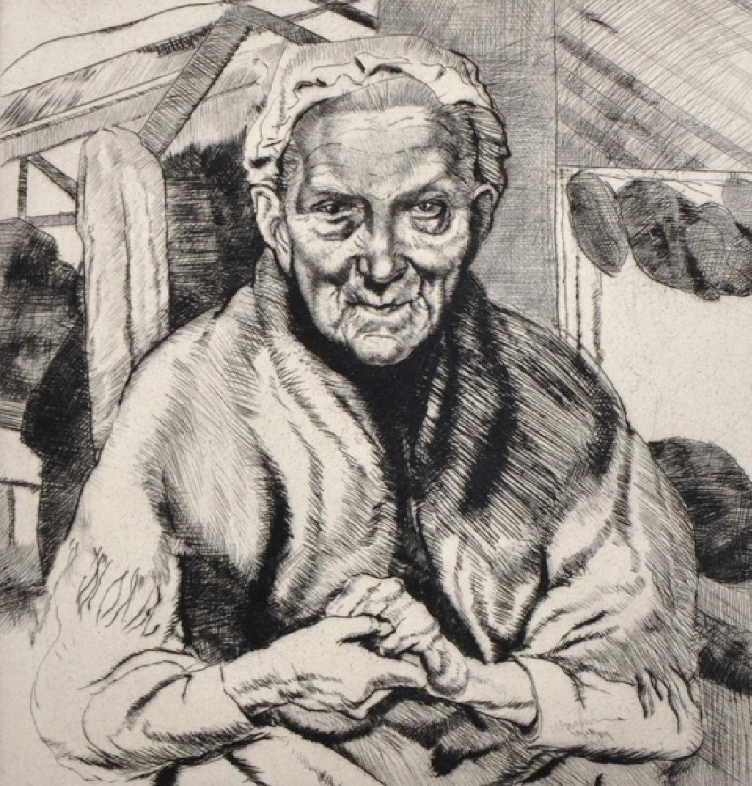 20th Century English School. Portrait of an Old Lady,