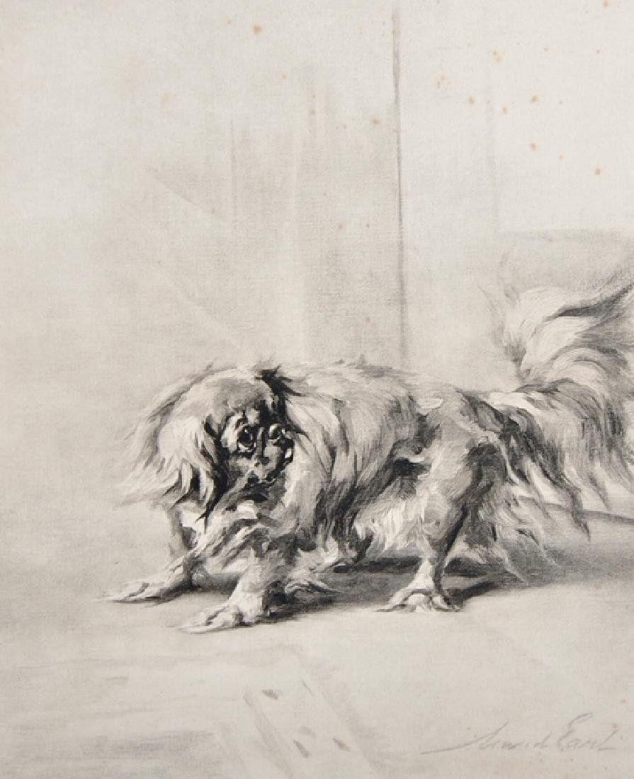"Maud Earl (1864-1943) British. ""Pekinese"", Lithograph,"