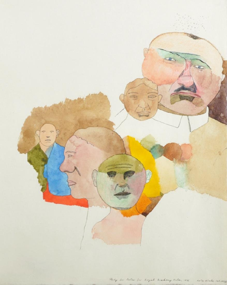 """Peter Blake (1932-    ) British. """"Study for Poster for"""