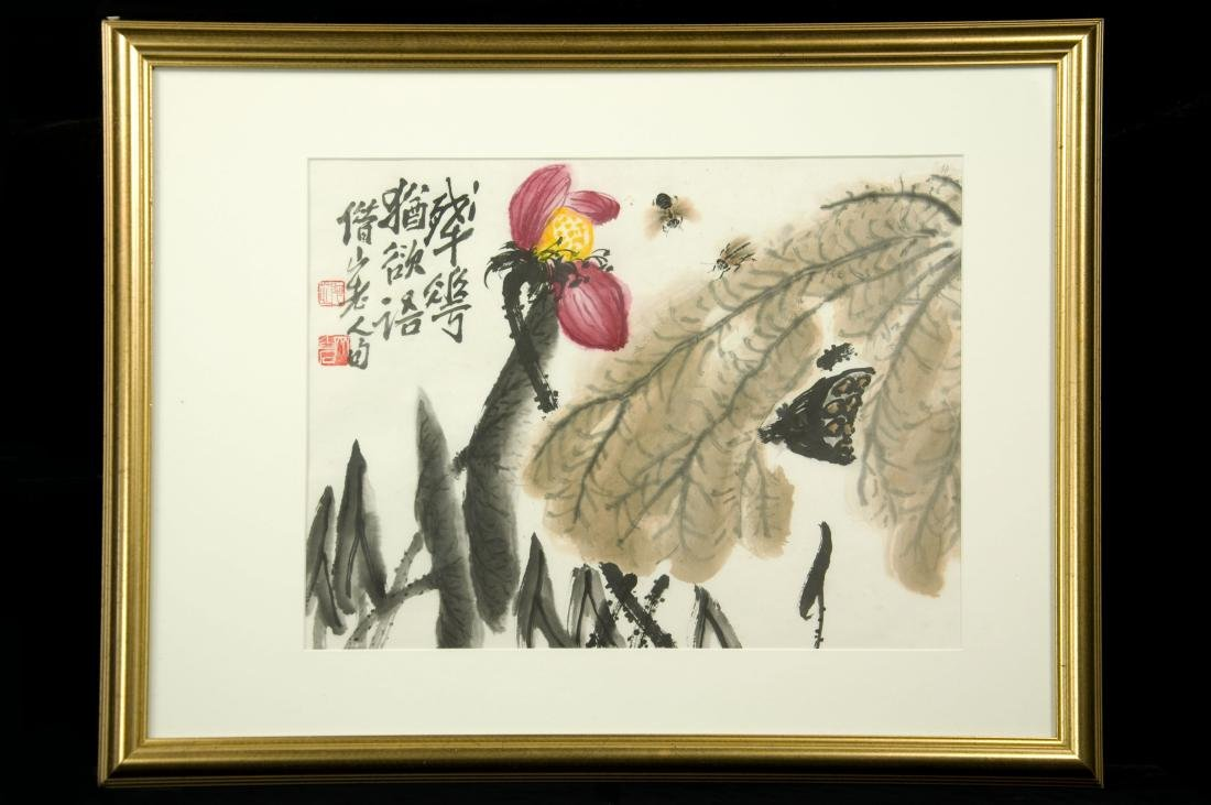 """Chinese Painting """"Fading Lotus's Speech"""" by Qi, Baishi"""