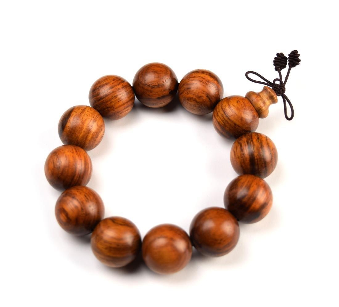 A Viet Rosewood Bead Bracelet