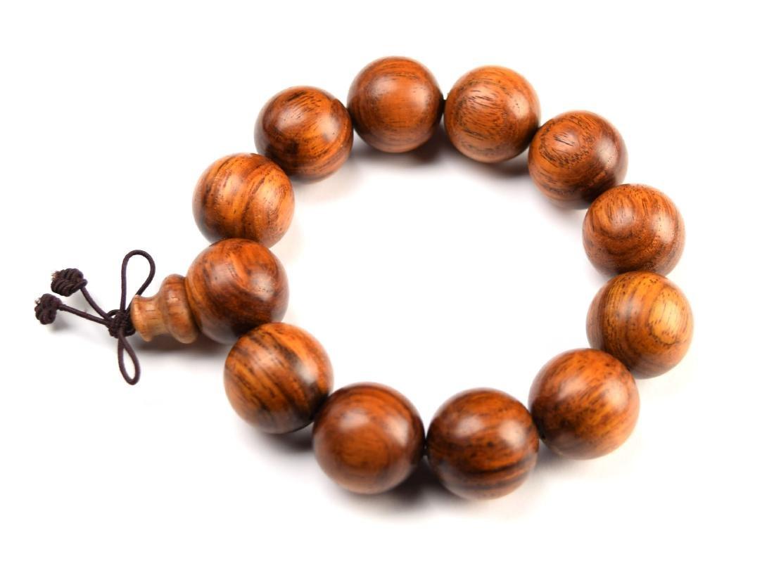 A Viet Rosewood Bead Bracelet - 3