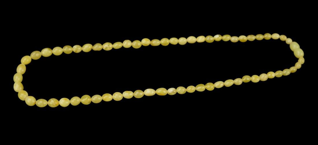 A Genuine Baltic Butter Amber Bead Necklace