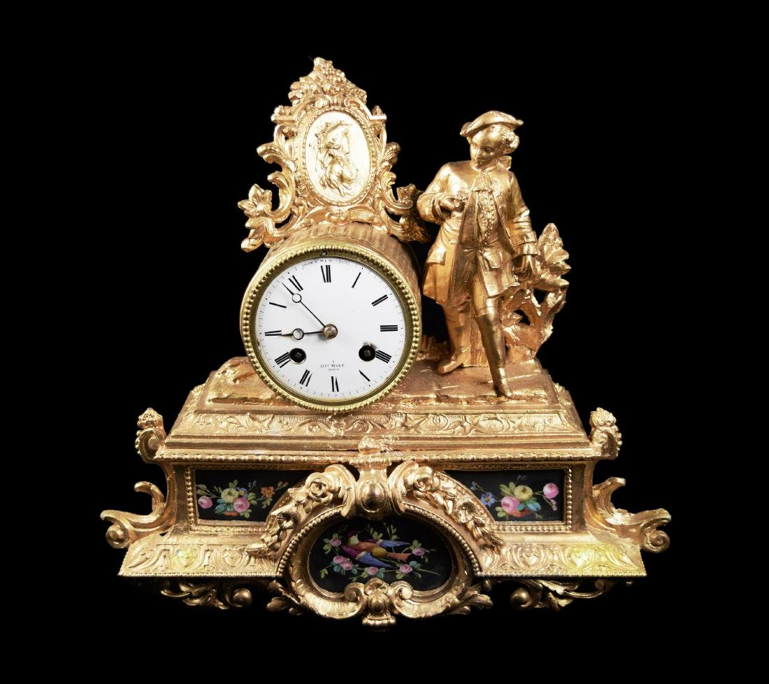 French Style Gilt Metal Clock