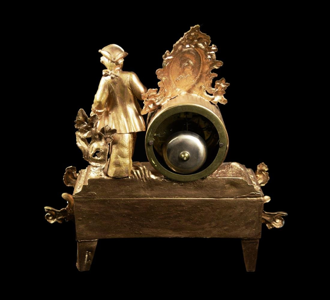 French Style Gilt Metal Clock - 3