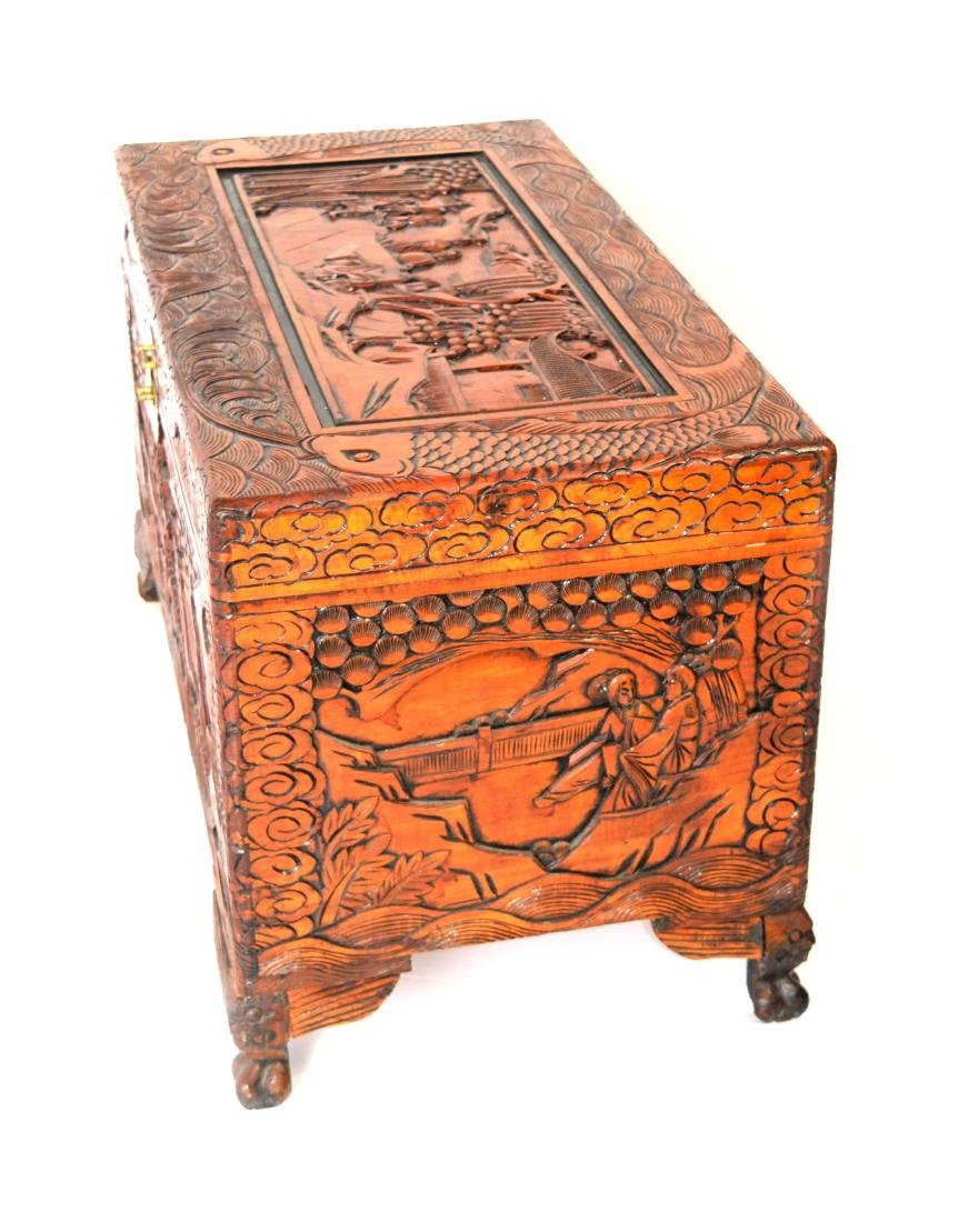 [Chinese] A Camphor Wood Carved Wardrobe Chest - 3