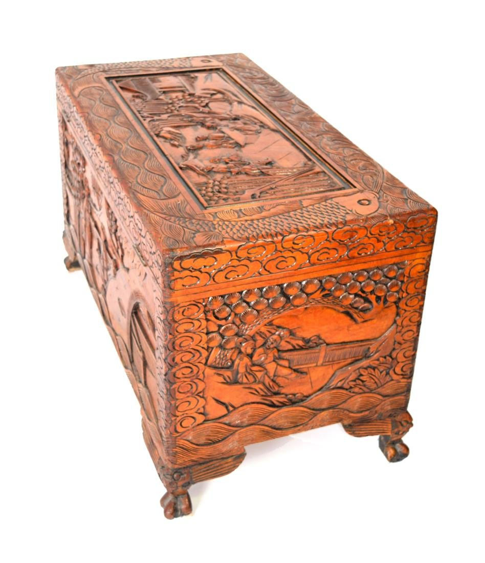 [Chinese] A Camphor Wood Carved Wardrobe Chest - 5