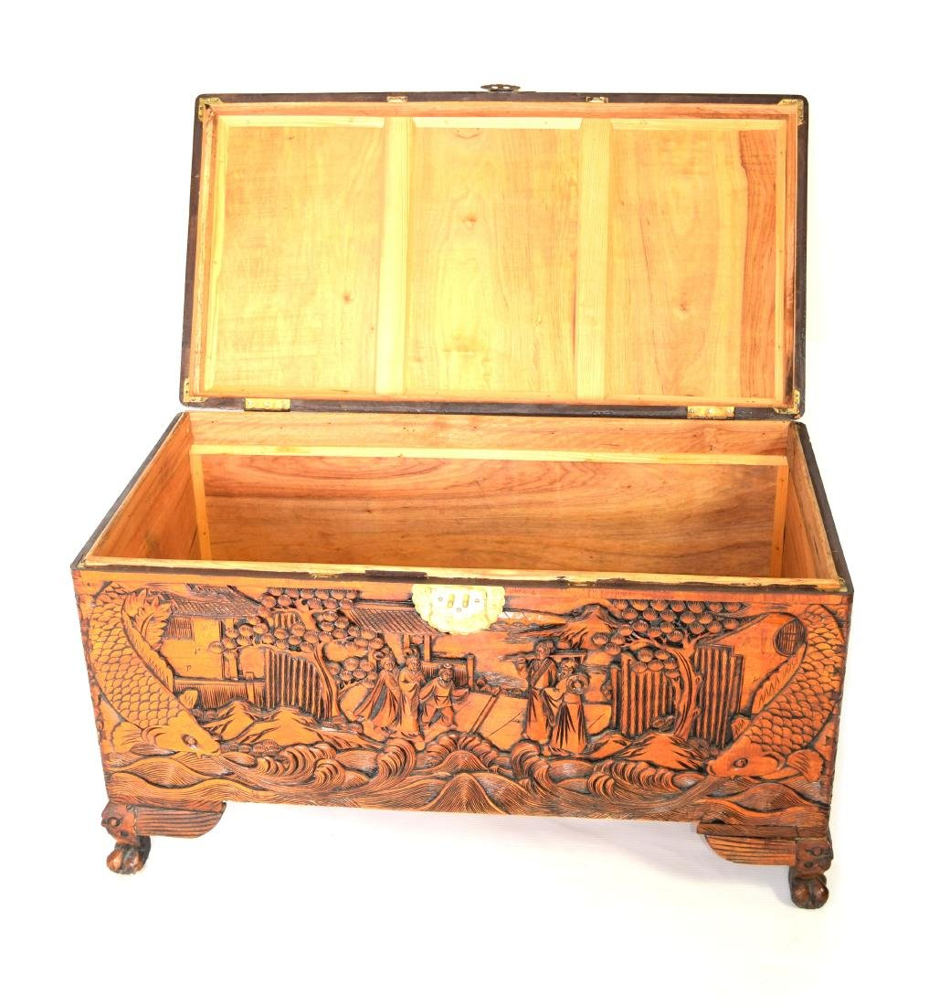 [Chinese] A Camphor Wood Carved Wardrobe Chest - 6