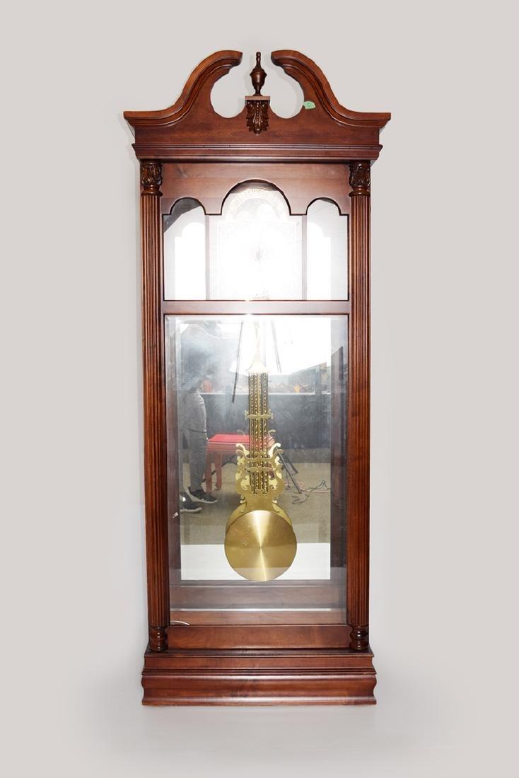An Extra Large Closet Style Pendulum Grandfather Clock