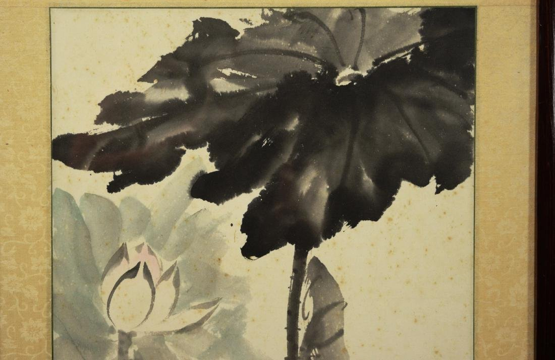 """Chinese Painting on Paper """"Lotus"""" by Liang, Danmei - 3"""