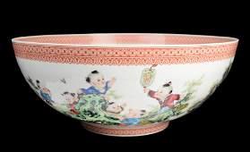 Chinese A Jingdezhen Famille Rose Egg Shell Porcelain