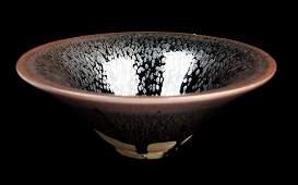 [Chinese] A Jian Kiln Style Large Black Glazed Bowl