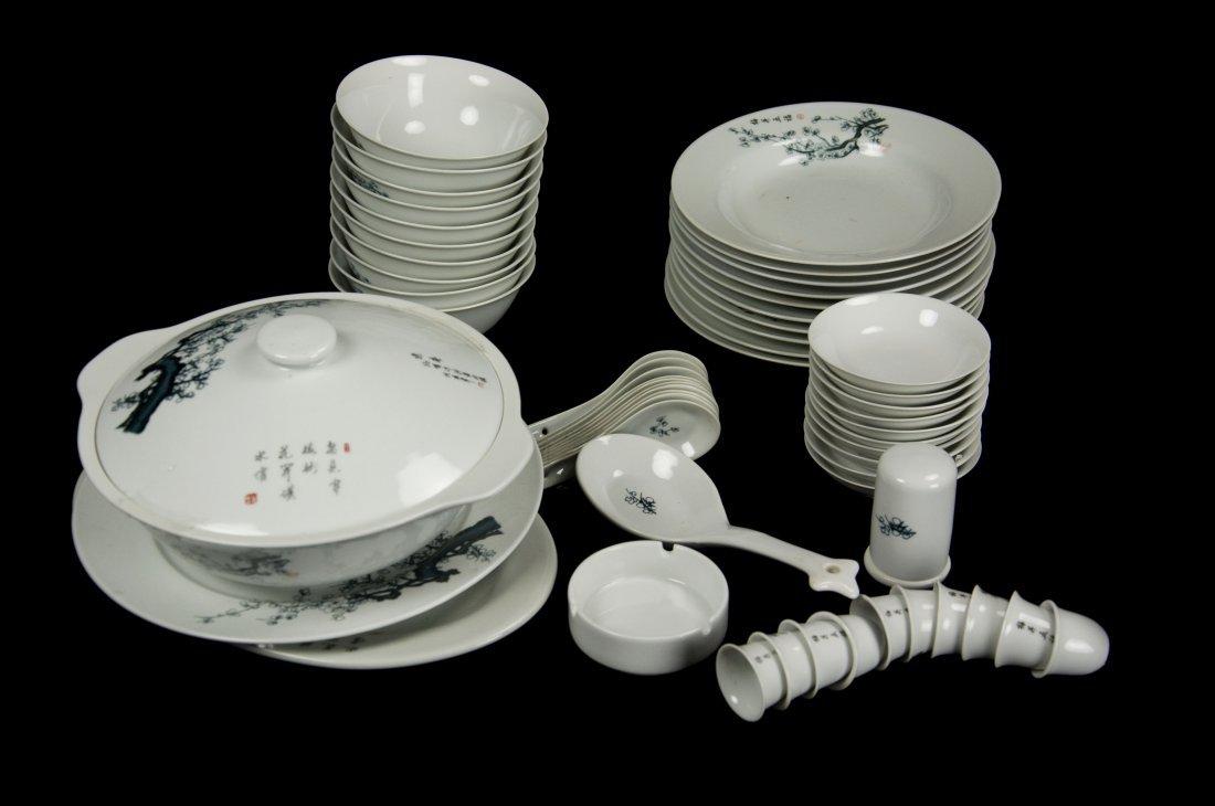 """Jing De Zhen""""Plum Flower"""" Dinnerware(56pcs Set"""