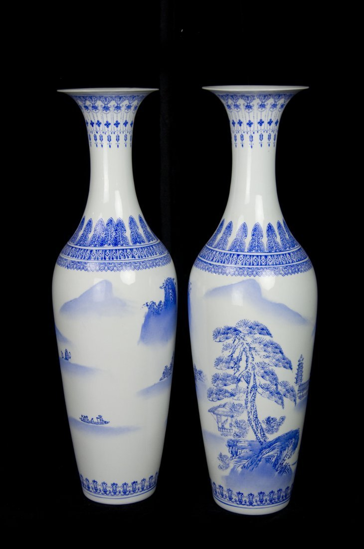 JingDeZhen Blue And White Eggshell Porcelain Vase