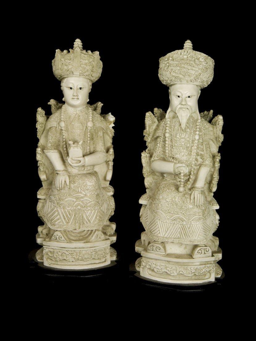Emperor and Emperess Figurines
