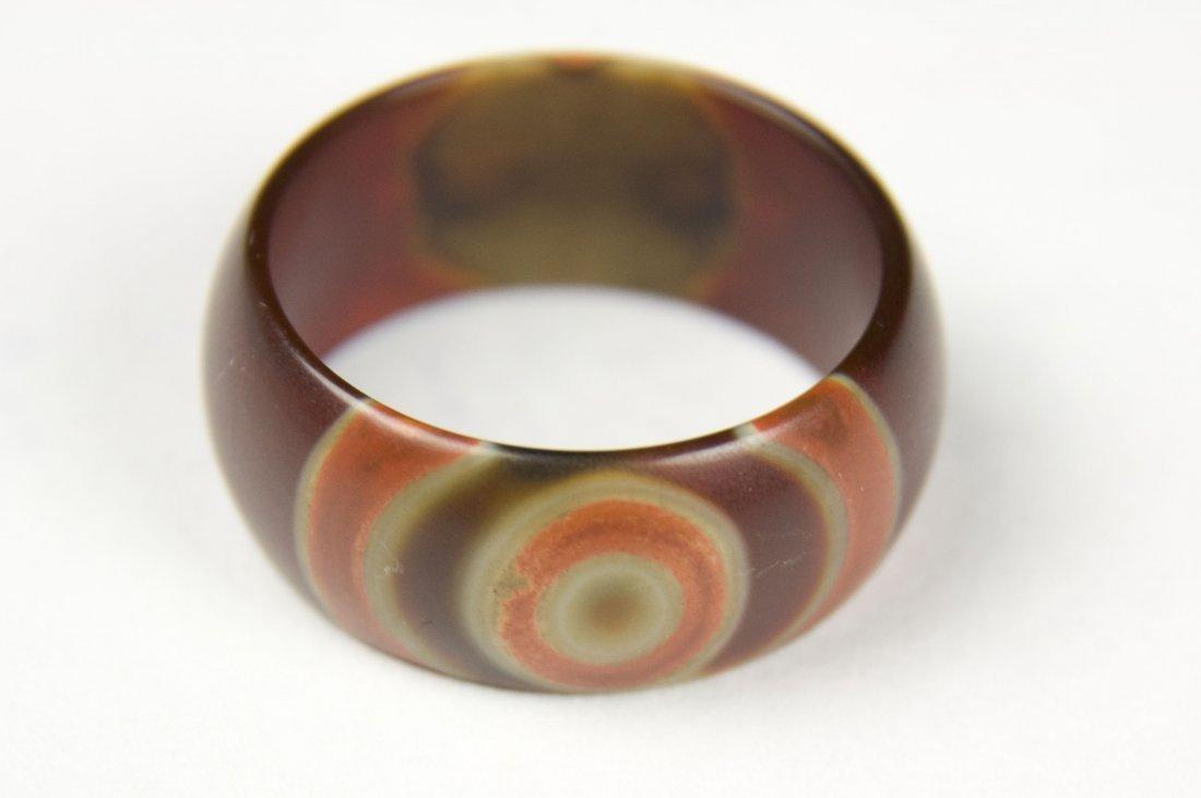 "Tibeten Red ""Sacred Eye Dzi"" Ring"