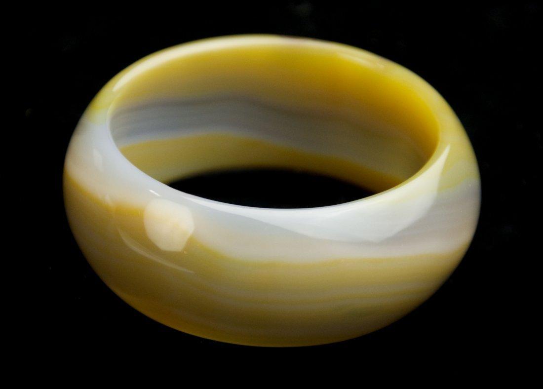 Natural Yellow Agate Bangle