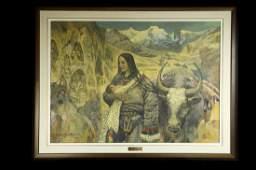 """David De Zhou Shang """"Son of Rockies"""" oil painting"""