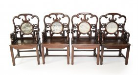A Set Of Chinese Old Siamese Rosewood (suanzhi) Cloud