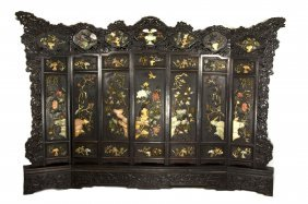 19th Century Chinese Extra Large Old Hardwood Screen