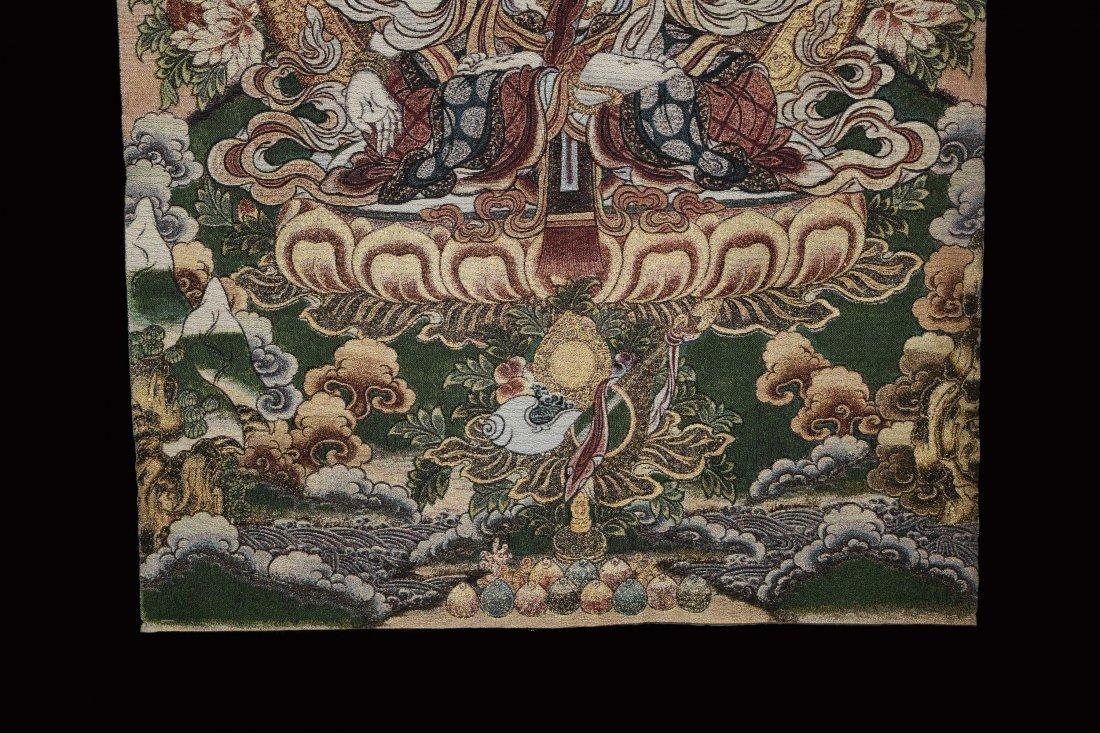 A Woven Tibetan Thangka of Bodhisattva - 4